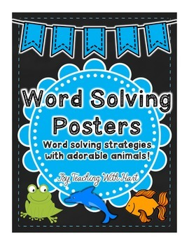 Word Solving Animal Strategy Posters