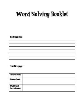 Word Solving Booklet
