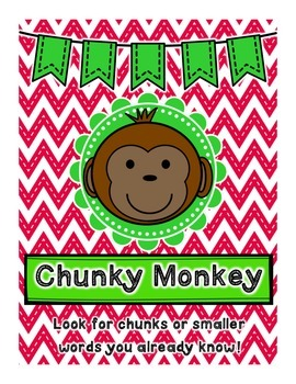 Word Solving Strategy Posters- Red and Green Chevron