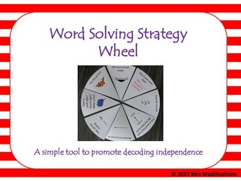 Word Solving Strategy Wheel