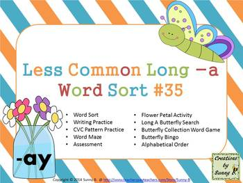 Word Sort #35 Less Common Long a