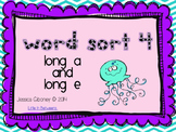 Word Sort 4- Long A and E