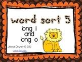Word Sort 5- Long i and o