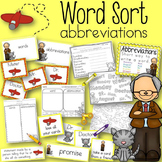 Word Sort Abbreviations Mr. Putter and Tabby Fly the Plane