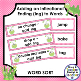Word Sort • Adding an Inflectional Ending (ing) to Words