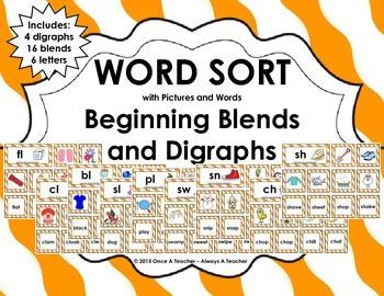 Word Sort - Beginning Blends and Digraphs