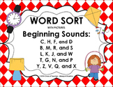 Word Sort - Beginning Consonant Sounds