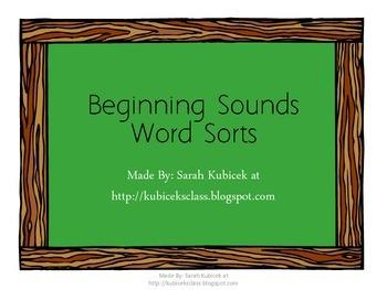Word Sort-Beginning Sounds