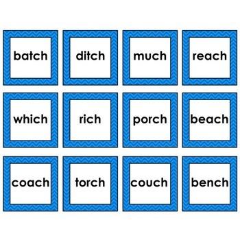 Word Sort - Beginning and Ending Complex Consonants