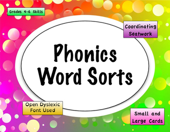 Phonics Word Sort + Seat work [growing] Bundle {Differentiated}