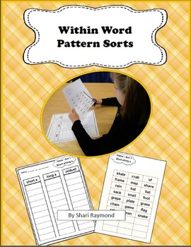 Word Sort Bundle - Red 7-50 and Yellow 1-50