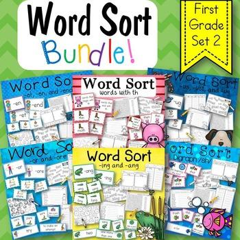 Word Sort Bundle Set 2  1st Grade