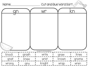 Word Sort Bundle Set 3  2nd Grade