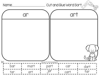 Word Sort Bundle Set 3  1st Grade