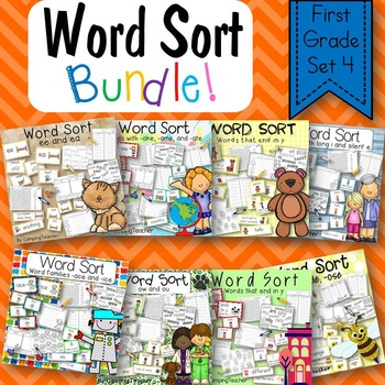 Word Sort Bundle Set 4  1st Grade