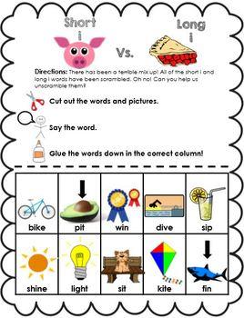 Word Sort Bundle: Short Vowel vs. Long Vowels