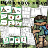 Word Sort Diphthongs ou and ow with No Prep Printables and Game