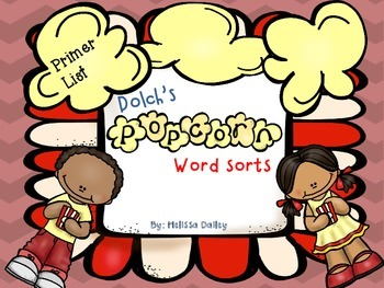 Word Sort - Dolch Primer Word List