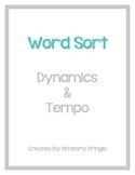 Word Sort - Dynamics & Tempo