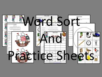 Word Sort- Ending -ck Unit