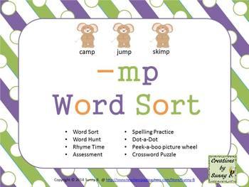 Word Sort Ending -mp Unit