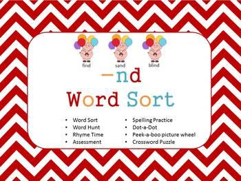 Word Sort Ending -nd Unit