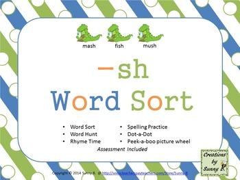 Word Sort Ending -sh Unit