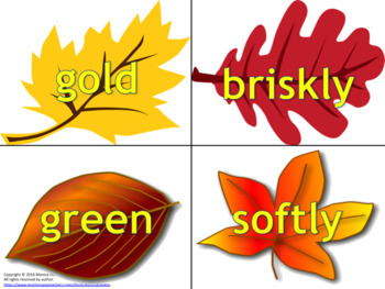 Word Sort - Fall Theme READING STRATEGY