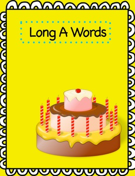 Word Sort File Folder Activity/Literacy Center ~ Long A/Short A