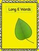 Word Sort File Folder Activity/Literacy Center ~ Long E/Short E