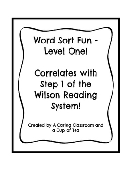 Word Sort Fun - Level One!