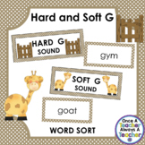 Word Sort - Hard and Soft G Words