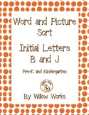 Word Sort Initial Letter B and J