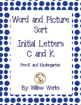 Word Sort Initial Letter C and K