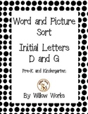 Word Sort Initial Letter D and G
