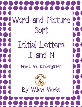 Word Sort Initial Letter I and N