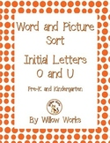 Word Sort Initial Letter O and U