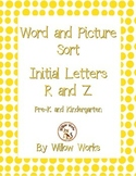 Word Sort Initial Letter R and Z