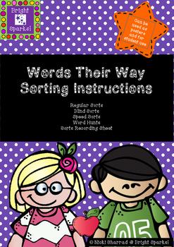 Word Sort Instructions