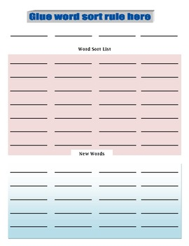 Word Sort List