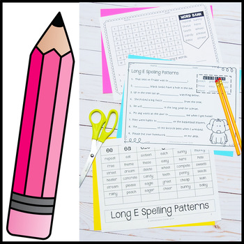 Long Vowel E Worksheets