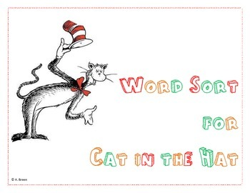 Word Sort Activity for Dr Seuss's Cat in the Hat