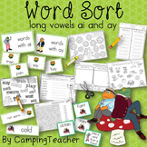Word Sort Long Vowels ay and ai Story Frog and Toad All Year The Corner