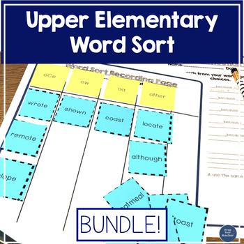Word Sort Long vowel bundle - Upper elementary