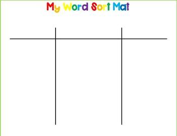 Word Sort Mat