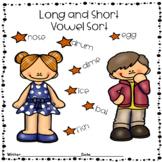 Long Short Vowel Word Sort Mini-Lesson