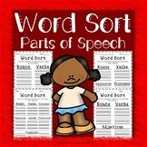 Parts of Speech - Word Sort