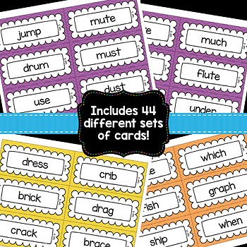 Word Sort Pocket Chart Cards {First Grade Edition}