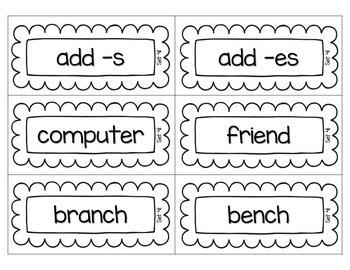 Word Sort Pocket Chart Cards {Second Grade Edition}