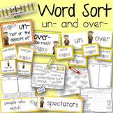 Word Sort Prefixes un and over Ruth Law Thrills a Nation